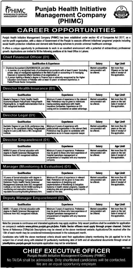 Director Health Insurance & Director Empanelment Jobs