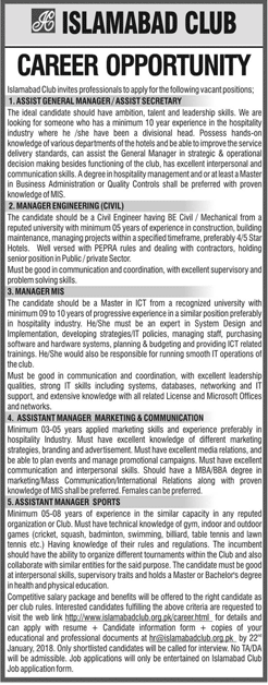 Assistants, Manager Engineering & Manager MIS Jobs