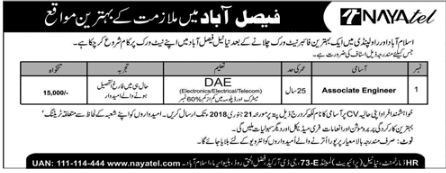 NAYA Tel Jobs for Associate Engineer