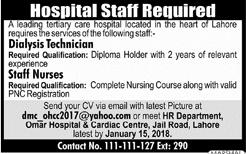 Dialysis Technician & Staff Nurse Jobs Open