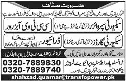 CCTV Observer & Security Supervisor Jobs in Punjab