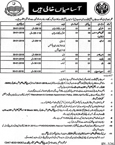 Family Welfare Assistant Jobs for PWD Department