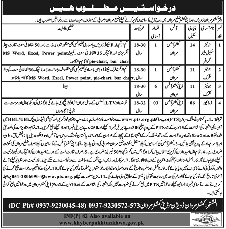 Deputy Commissioner Office Jobs for Clerk & Stenographer