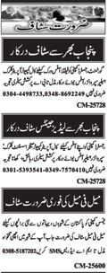 Multiple Staff Required For Islamabad
