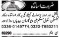 Teachers Required For School In Lahore