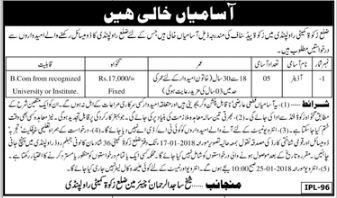 Auditor Jobs In Rawalpindi