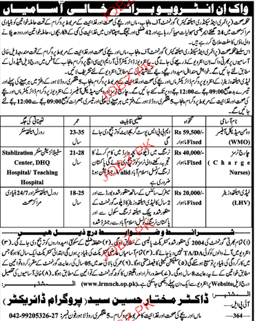 Health Department Medical Jobs