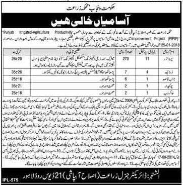 Supervisor & Driver Jobs in Irrigation Department