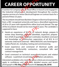 senior Electrical Engineers Job Opportunity