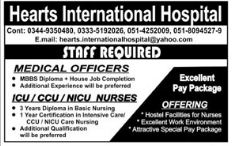 Medical Officer & ICU Nurse Jobs in Rawalpindi