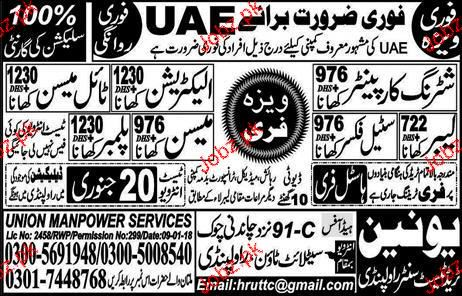 Labors, Shuttering Carpenters, Steel Fixers Job Opportunity