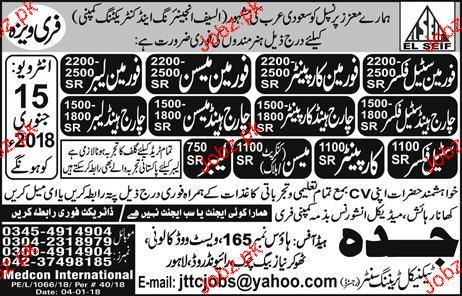 Carpenters, Mason, Charge Hand Carpenters Wanted