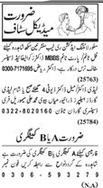Paramedical Staff required in Lahore