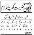 House Staff Jobs in Lahore 2018