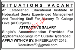 Teaching Staff Job Opportunity