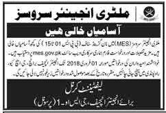 Pakistan Army Civilian Jobs 2018