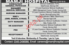 Consultant General Physicians, Nursing Manager Wanted
