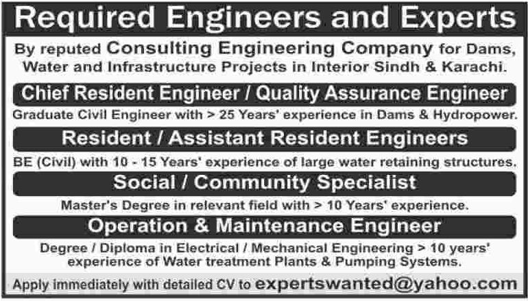 Chief Resident Engineer & Community Specialist Jobs