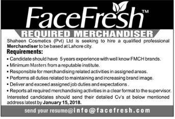 Face Fresh required Merchandiser