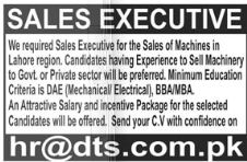 Sales Executive Jobs in Lahore
