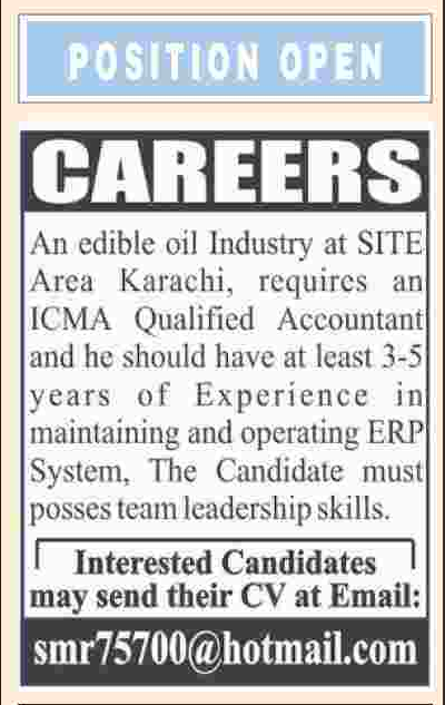 Accountant Jobs 2018 In Karachi