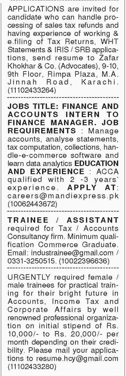 Accounts Officers Jobs In Karachi