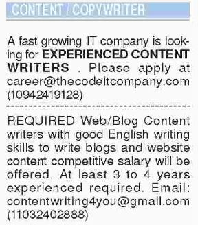 Content Copywriter Jobs In Karachi