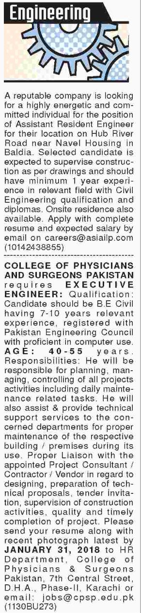 Engineering Jobs 2018 In Karachi