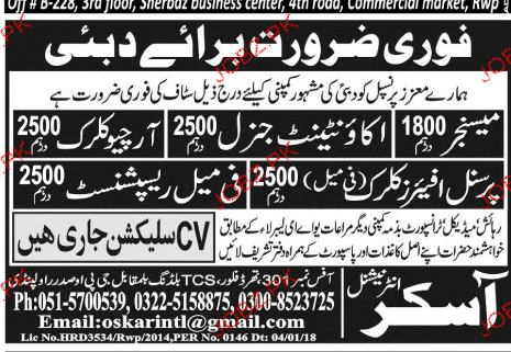 Messengers, Accountant General, Archive Clerks Wanted