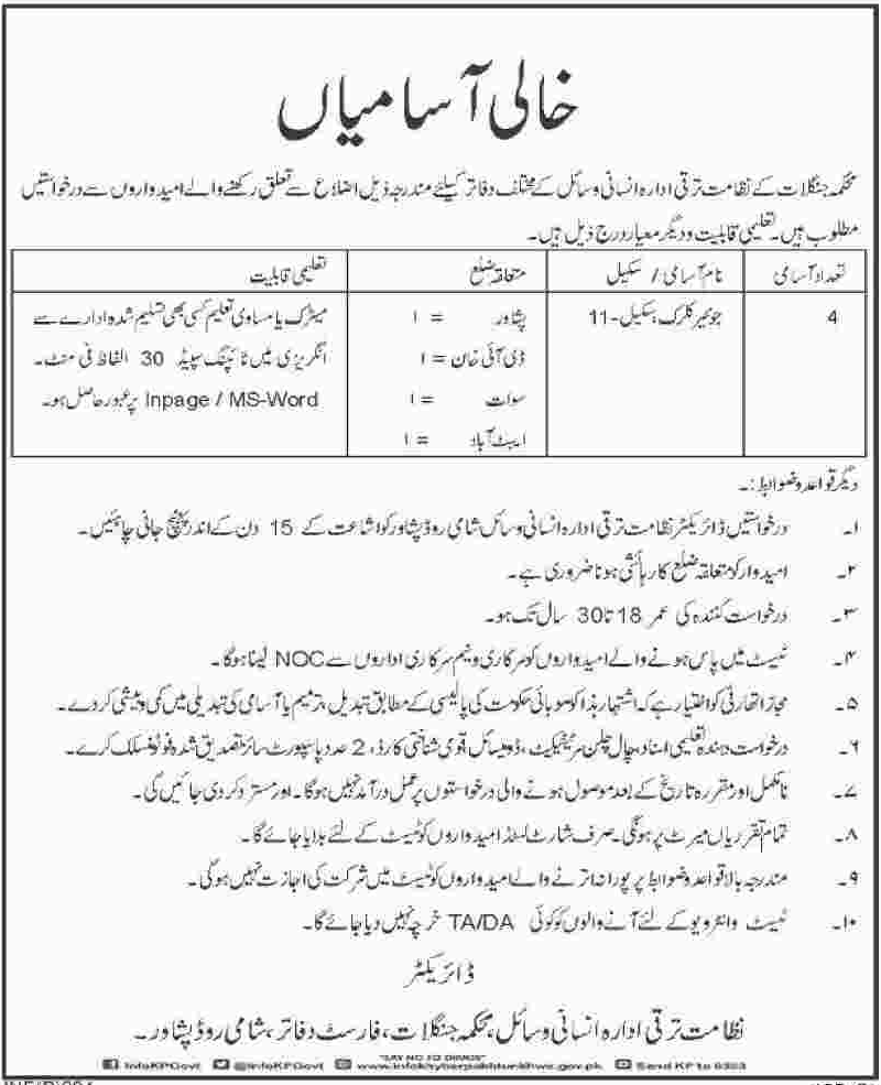 Junior Clerk Jobs in Forest Department