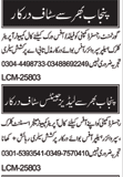 General Staff Required For Multan