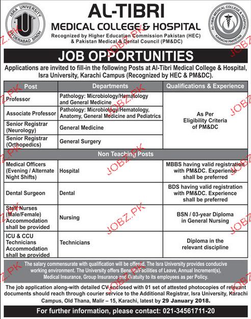 Al Tibri Medical College & Hospital Jobs