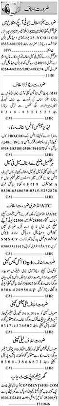 General Staff Required In Karachi
