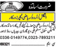 Teaching Staff Required In Lahore