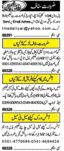 General Staff Wanted In Lahore