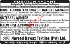Cost Accountant Cum Operations Manager Job Opportunity