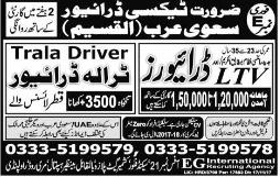 LTV Drivers and Tralla Drivers Job Opportunity
