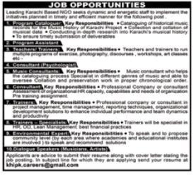 Program Assistant & Teacher NGO Jobs 2018