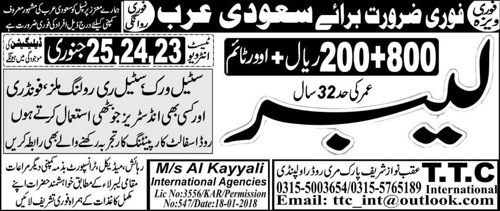 Labors Job Opportunity