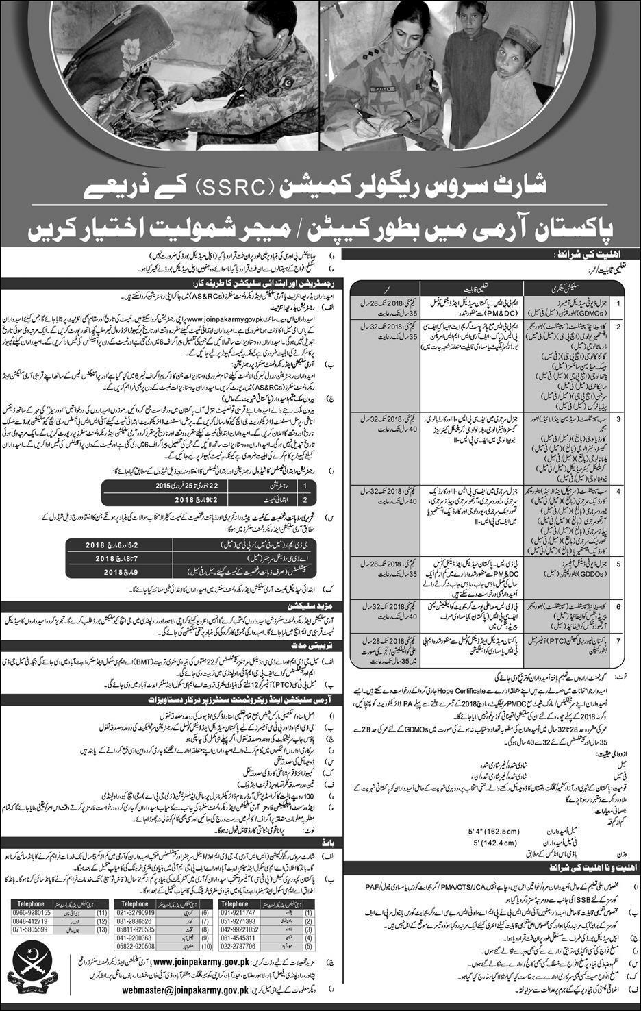 Recruitmentas Captain Through Service Commission in Pak Army