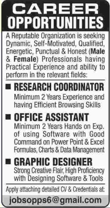 Research Coordinator Required For Private Company