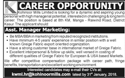 Assistant Manager Marketing Job Opportunity