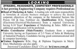 Head of Marketing & Sales, Sales Coordinators Wanted