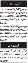 Male & Female Teacher Jobs in Multan