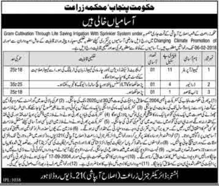 Irrigation Department Jobs 2018 for Computer Operator