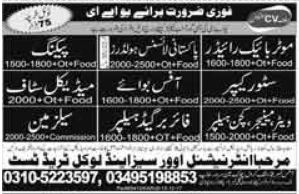 Medical Staff & Packing Staff Jobs in UAE