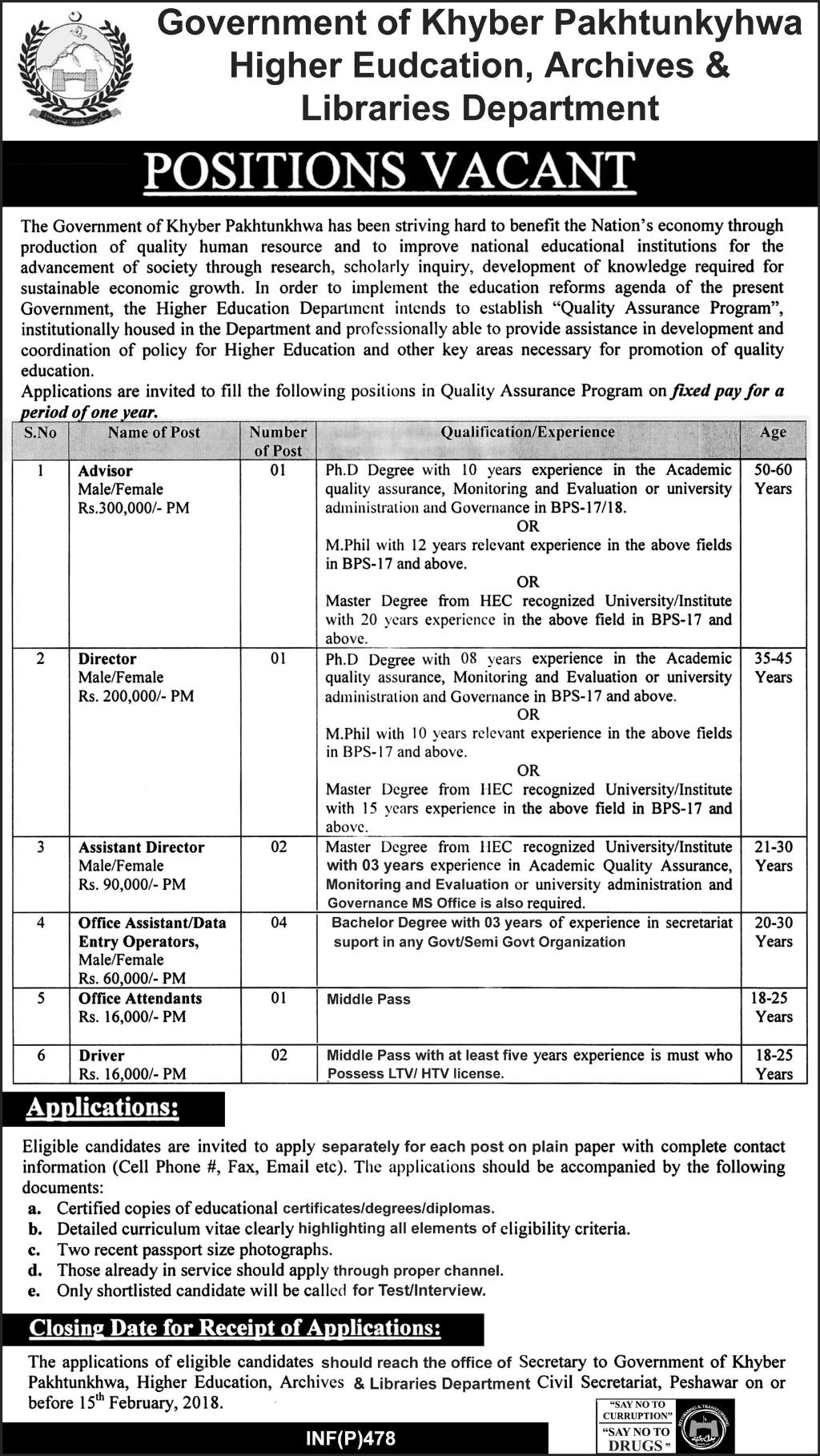 Higher Education, Archives & Libraries Department Jobs