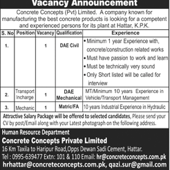 Concrete Concepts Pvt Limited Jobs Open