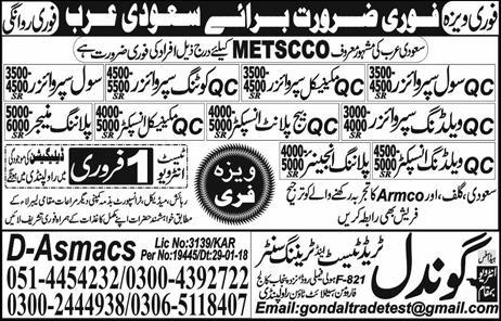 AC Civil, AC Mechanical Supervisors, Civil Supervisor Wanted