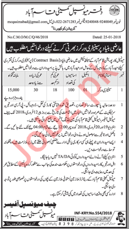 Municipal Corporation Jobs 2018 for Sanitary Worker